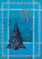 Tree of Blue (BCF0603) Charity Holiday Card