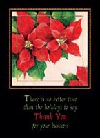 Poinsettia Thank You (FA0916) Charity Holiday Card